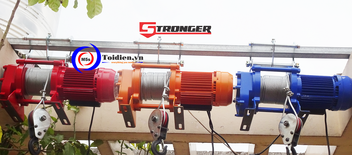 Máy tời nhanh Stronger - thay thế máy tời điện Nhật cũ