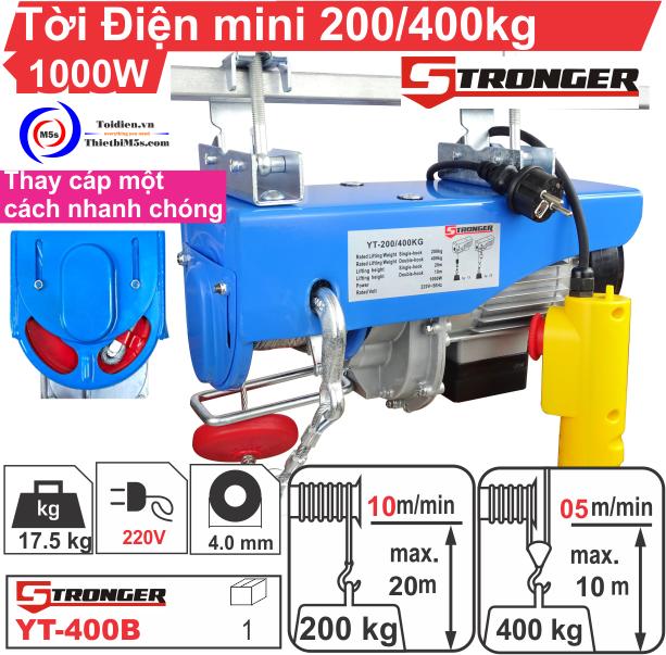 TỜI ĐIỆN MINI 200-400KG STRONGER