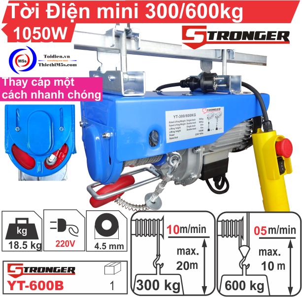 TỜI ĐIỆN MINI 300-600KG STRONGER