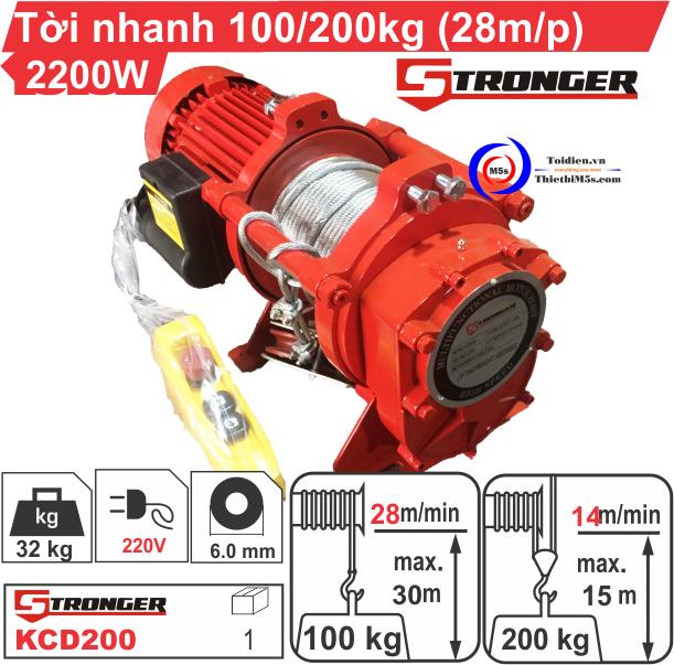 Máy tời điện tốc độ cao Stronger - thay thế máy tời đã qua sử dụng