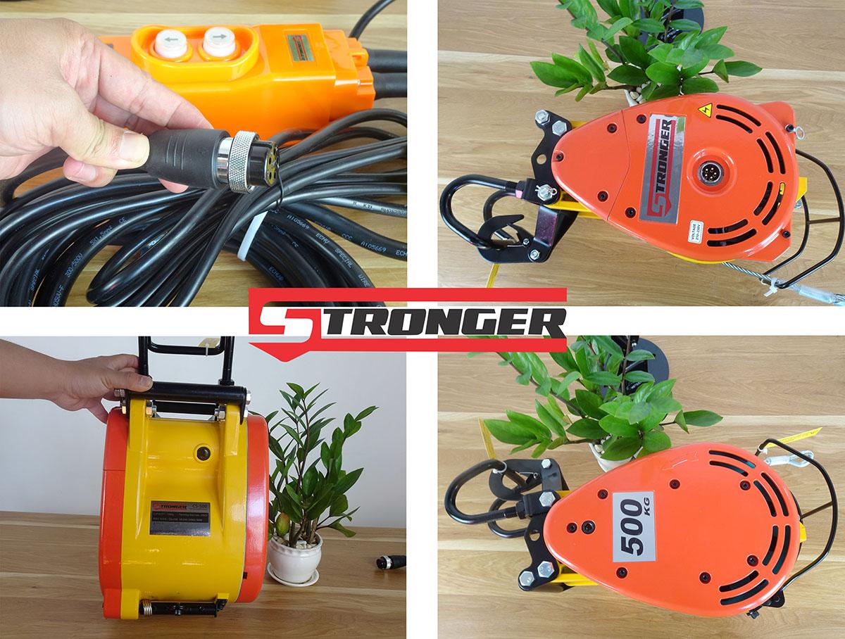 Máy tời điện mini Stronger 500kg CS-500