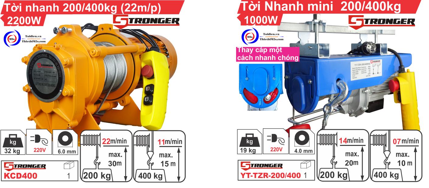 Máy tời nhanh Stronger - thay thế máy tời điện Nhật bãi