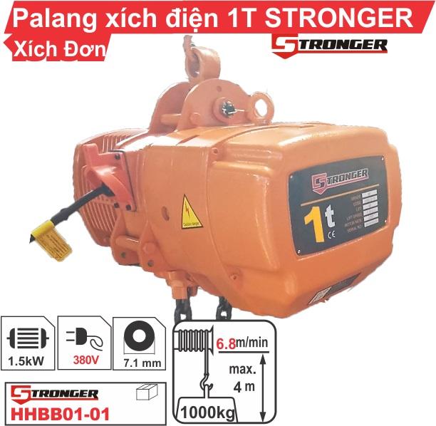Pa lăng xích điện 1 tấn Stronger cố định