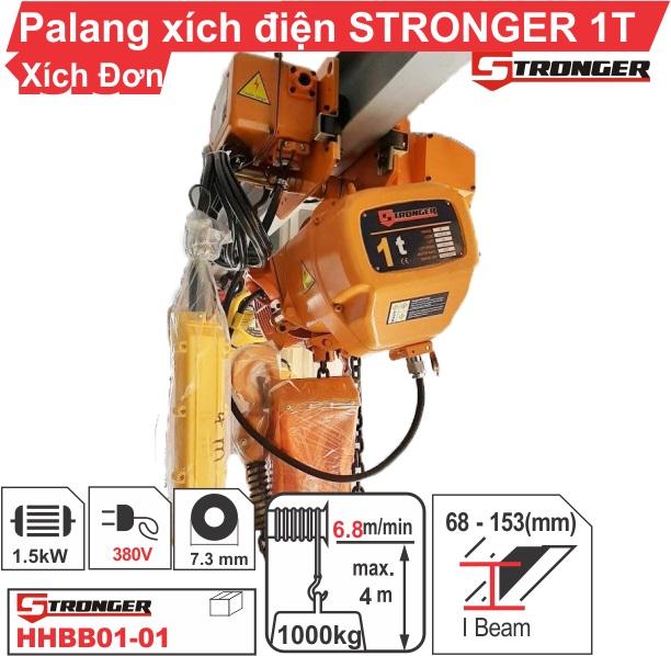 Pa lăng xích điện 1 tấn Stronger (loại dịch chuyển)
