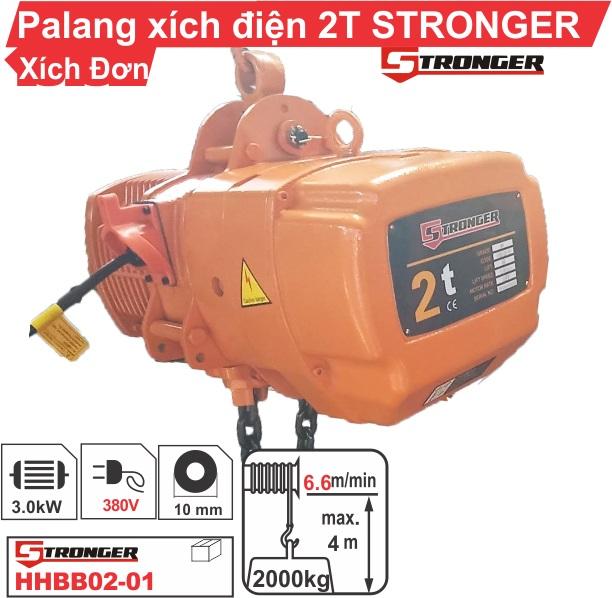 Pa lăng xích điện 2 tấn Stronger cố định