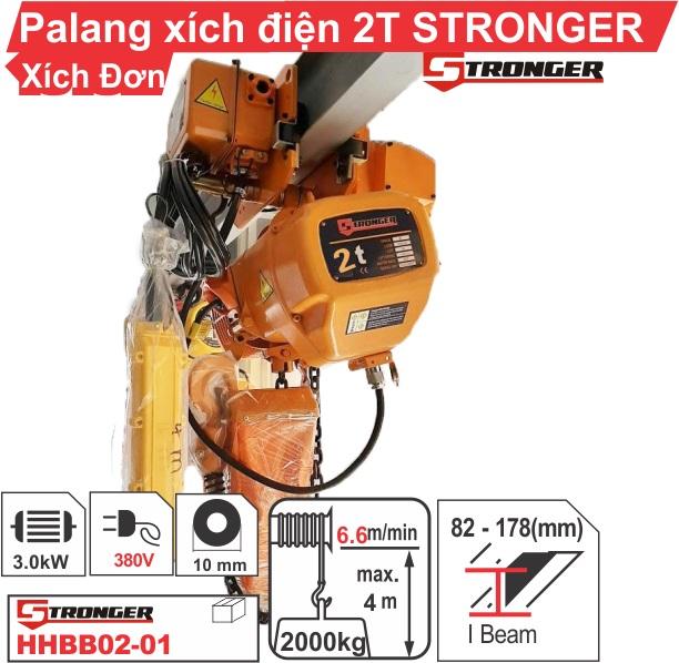 Pa lăng xích điện 2 tấn 4m Stronger
