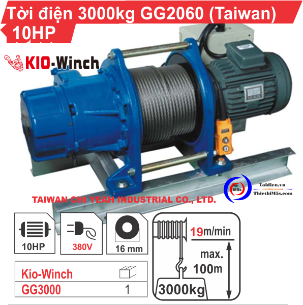 Tời điện kéo mặt đất KIO Winch
