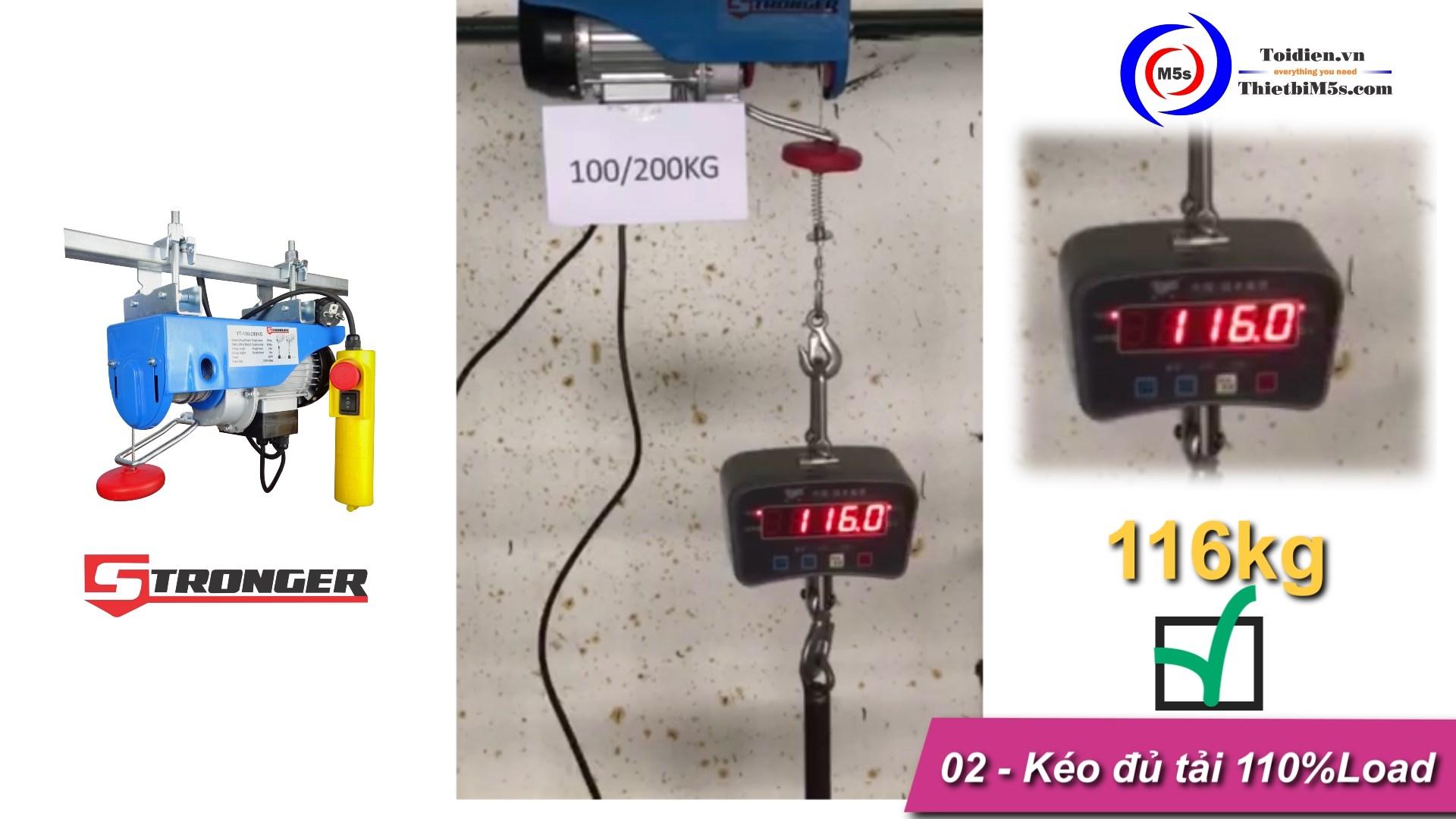 TỜI ĐIỆN MINI 100-200KG STRONGER