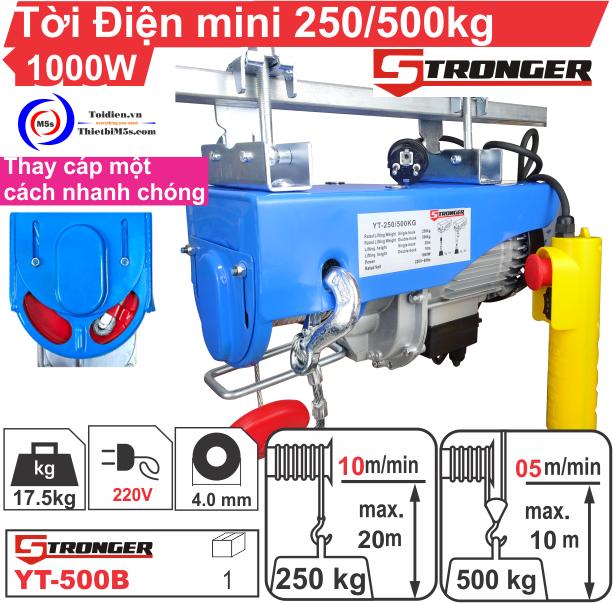 TỜI ĐIỆN MINI 250-500KG STRONGER