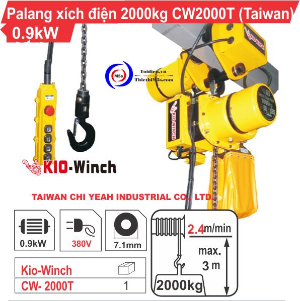 Pa lăng xích điện 2000kg Kio-Winch