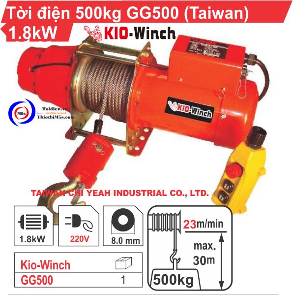 TỜI ĐIỆN 500KG KIO WINCH GG-500
